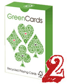 Green playing cards